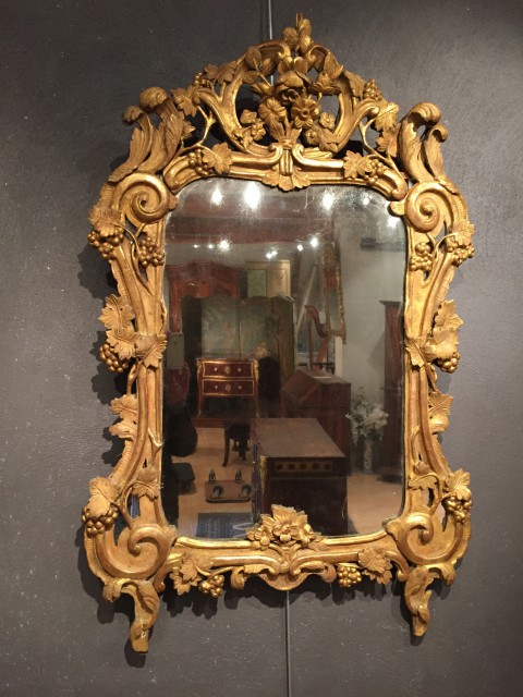 Achat vente miroirs miroir proven al 18 me ep louis xv for Miroir 19eme siecle