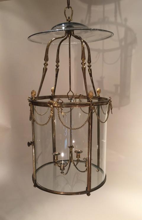 achat vente lustres lanterne cage en bronze poque louis. Black Bedroom Furniture Sets. Home Design Ideas