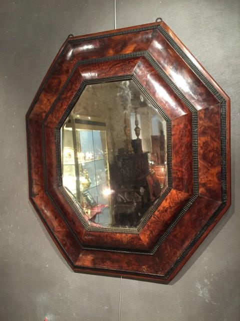 Achat Vente Miroirs Important Miroir Octogonal En Placage