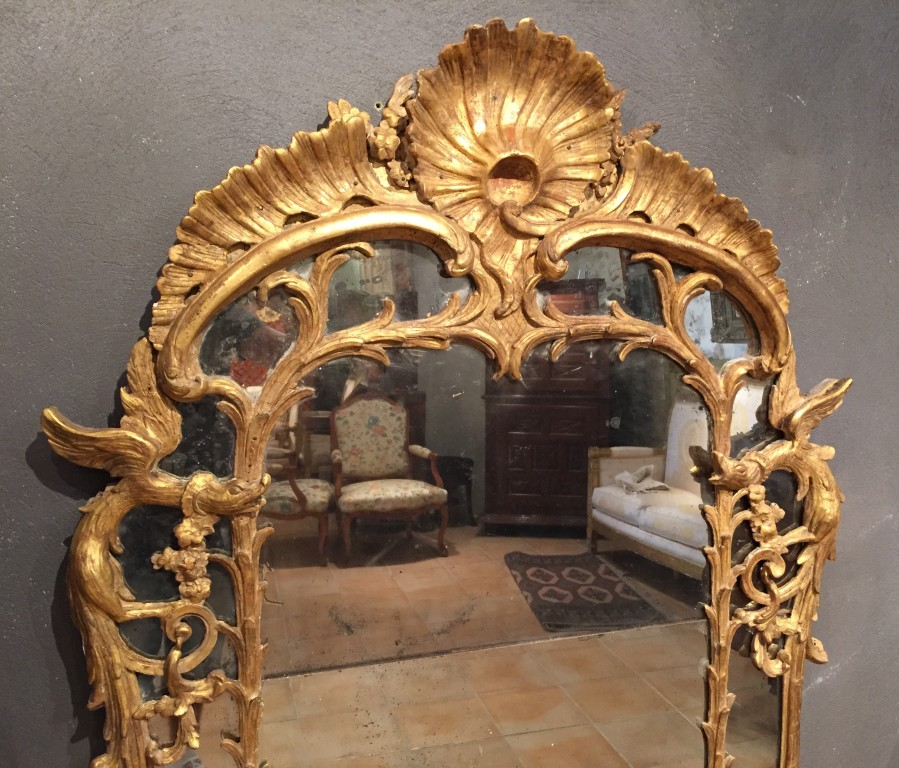 achat vente miroirs miroir parecloses aux chim res p louis xv vers 1730 antiquit s franck. Black Bedroom Furniture Sets. Home Design Ideas