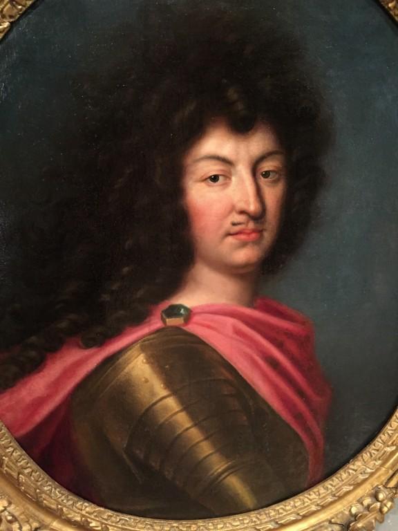 Achat Vente Tableaux Louis Xiv En Armure Atelier De Pierre Mignard 1612 1695 Antiquites Franck Baptiste