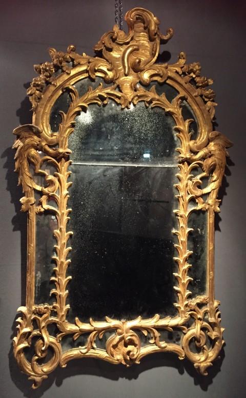 Achat vente miroirs miroir parecloses en bois dor aux for Miroir louis xv