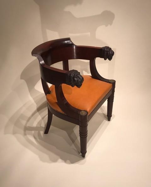 achat vente si ges fauteuil de bureau en acajou attribu jacob paris poque empire. Black Bedroom Furniture Sets. Home Design Ideas