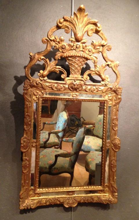 achat vente miroirs miroir de style r gence antiquit s. Black Bedroom Furniture Sets. Home Design Ideas