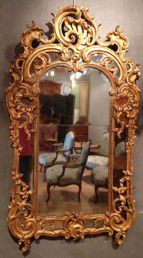 achat vente miroirs miroir proven al louis xv antiquit s franck baptiste. Black Bedroom Furniture Sets. Home Design Ideas